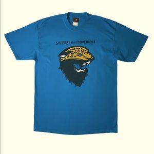 """Hanes Jax Jaguars """"Support the Movement"""" Tee L"""